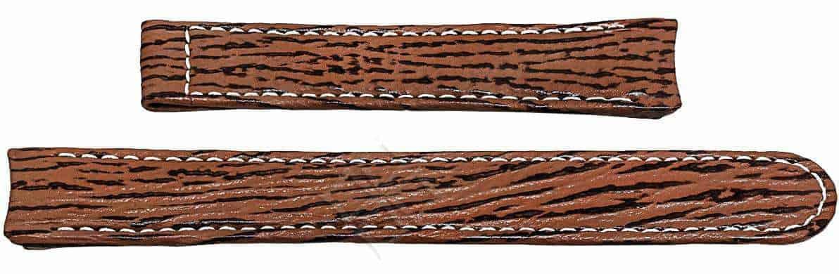 Ebel 1911 brown sharkskin watch band - 20mm wide - EB712