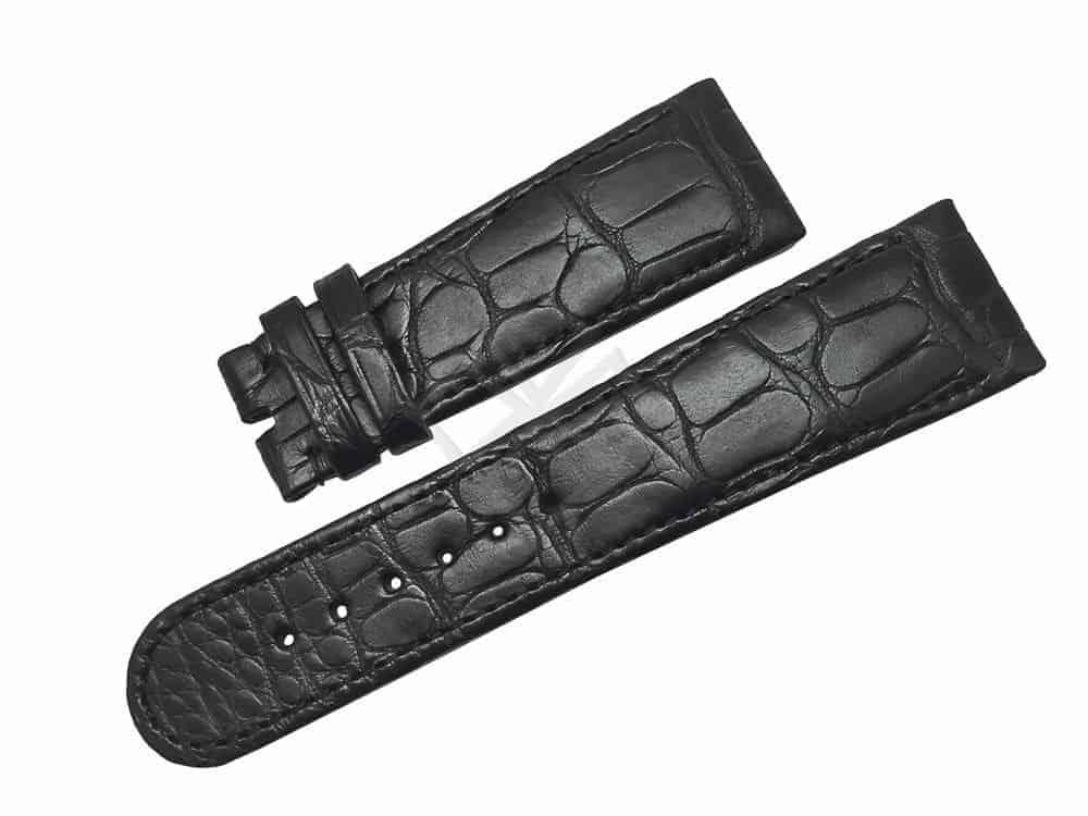 Ebel 1911 La Carree Black Alligator Watch Band eb520