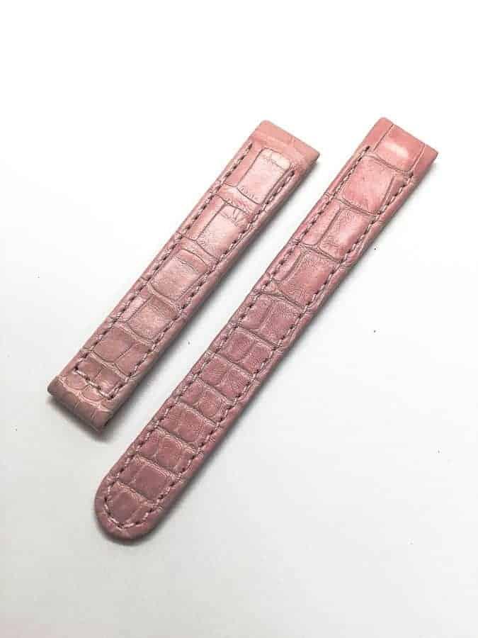 Ebel 1911 Mini - Pink Crocodile Watch Band - 629400252
