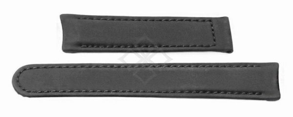 Ebel 1911 Senior Black Leather watch band - 20mm wide - 7.75 inch long - EB876