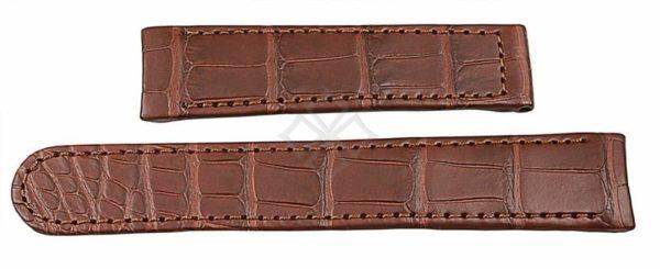 Ebel 1911 Senior brown crocodile watch band - 20mm wide