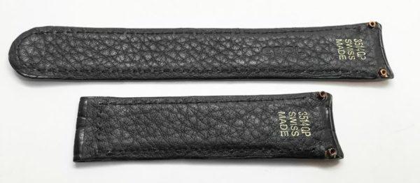 Ebel 3514QP black alligator band with screw attachements