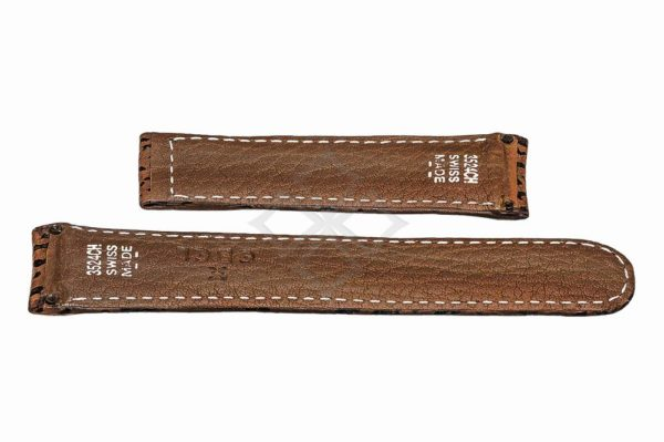 ebel 3524ch brown shark watch band with screw attachements
