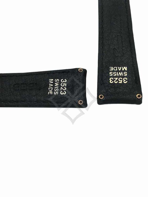 Ebel black alligator watch strap with screw attachments 3523