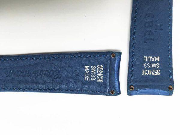 Ebel Blue crocodile watch strap with screw attachments spread 19 mm apart - eb943