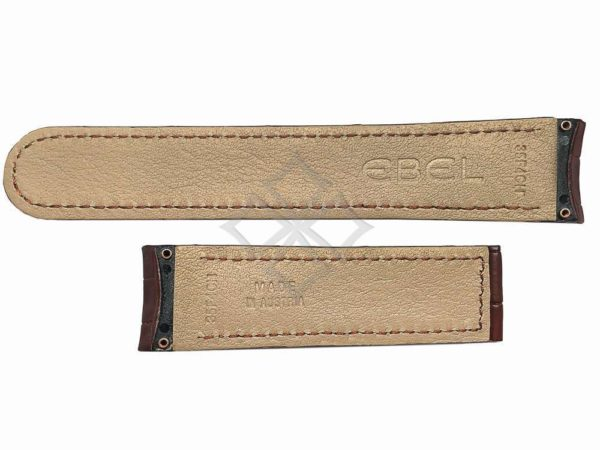ebel eb35f4ch swiss made brown crocodile watch band - eb981
