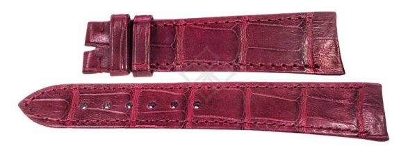 ebel sport classic burgundy crocodile replacement watch band - 20mm wide - EB727