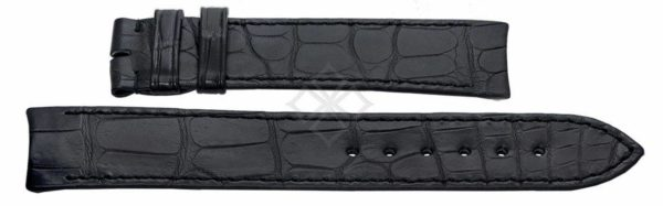 Ebel Sport Classic XL black crocodile watch band - 20mm wide - EB640