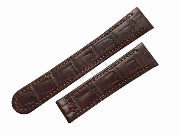 ebel tarawa replacement brown crocodile watch band - eb002