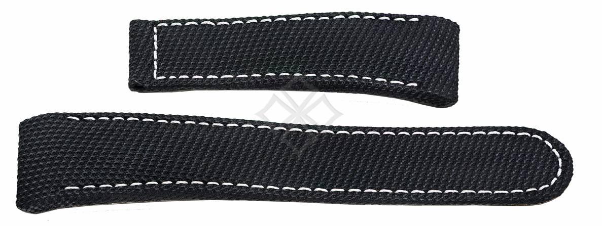 Ebel Tekton black fabric watch band - 26mm wide - EB283