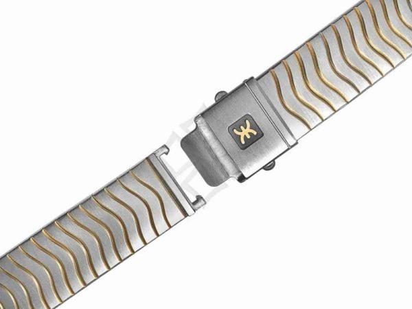 ebel wave two tone bracelet with logo - EB0402