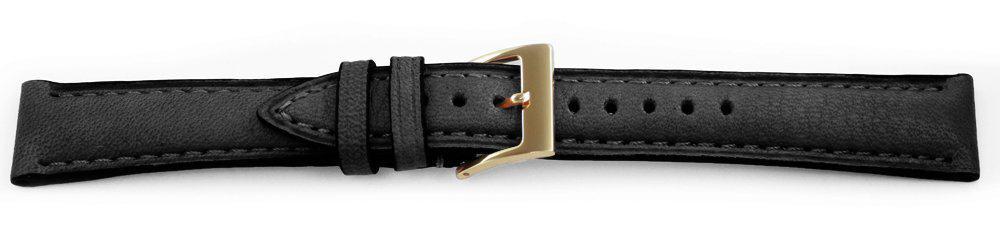 European Leather Black Watch Band  Ecopel 16315