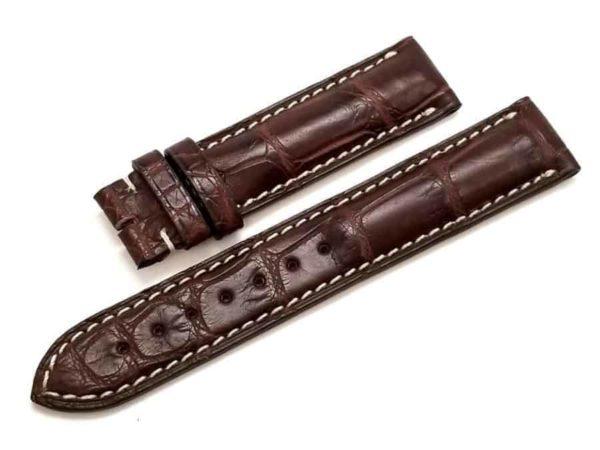 Genuine-Longines-19-18MM-Brown-Alligator-Leather-Watch-Band