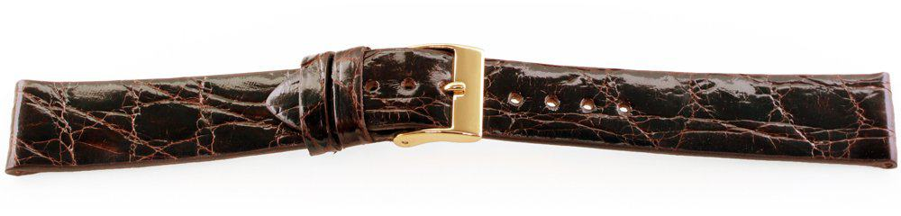 Genuine-Crocodile-Watch-Band-Brown