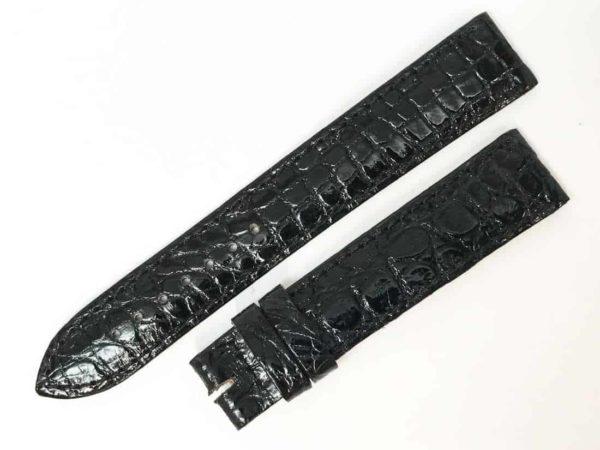 Genuine Crocodile Hamilton 1816mm Black watch band