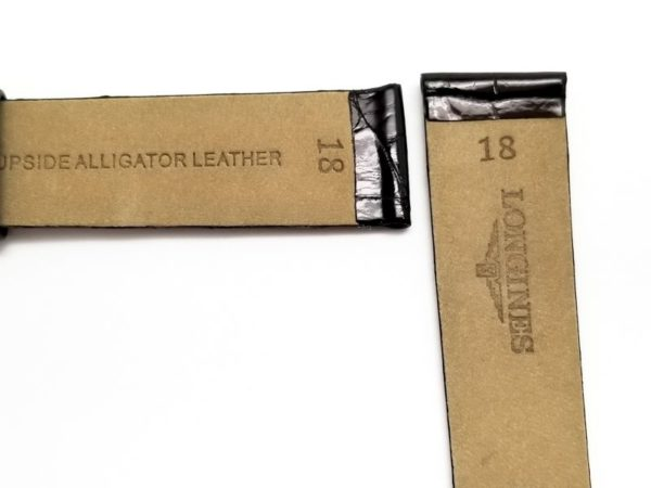 genuine longines alligator 18mm watch band