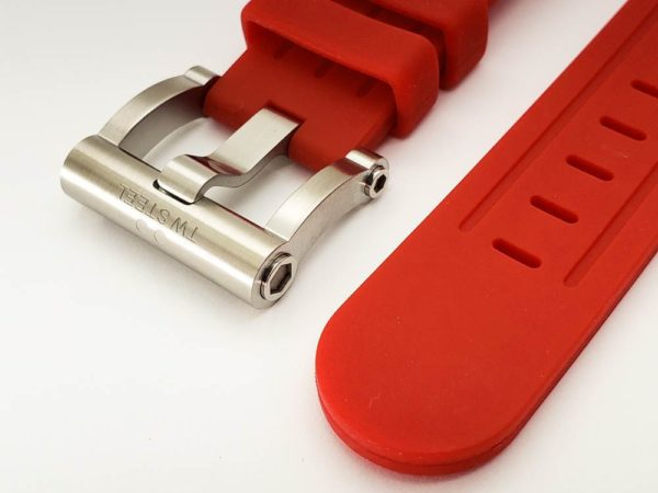 Genuine Replacement TW Steel Grandeur Red Silicone 22mm Watch Band