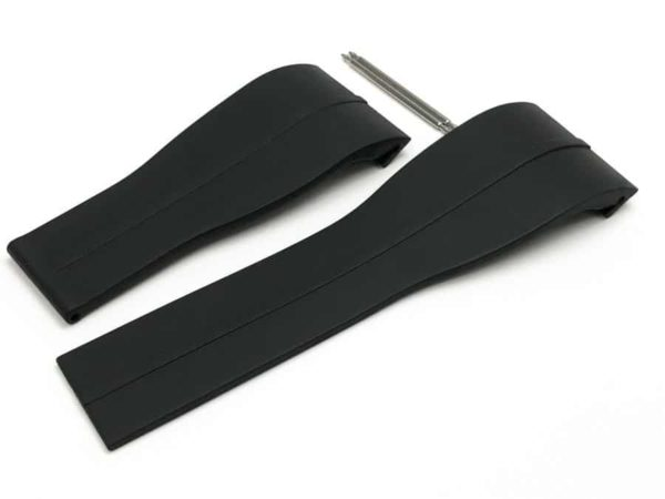 Genuine Tag Heuer Microtimer Black Rubber watch band TG003