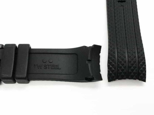 Genuine TW Steel black rubber tire rubber pattern watch strap