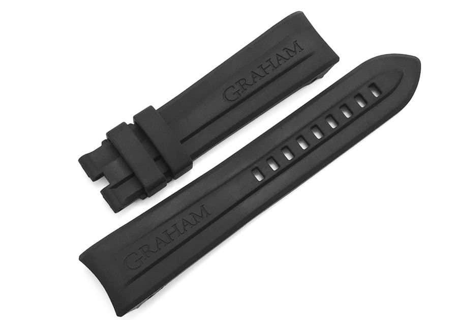 Replacement Black Rubber Strap for Graham Swordfish Big GR06B
