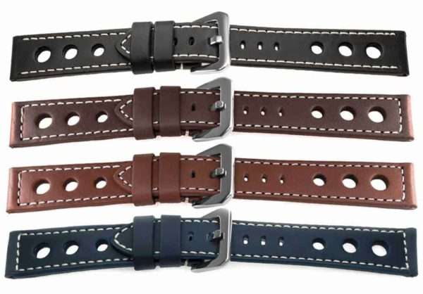 Grand Prix Racing Inspired Watch Bands 13227 w Rally Holes