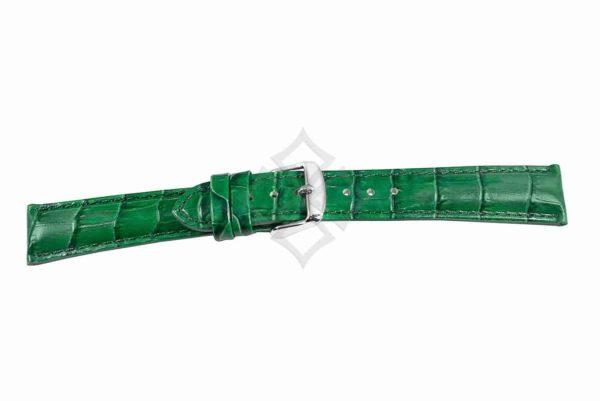 Green crocodile grain chrono watch band - 30687