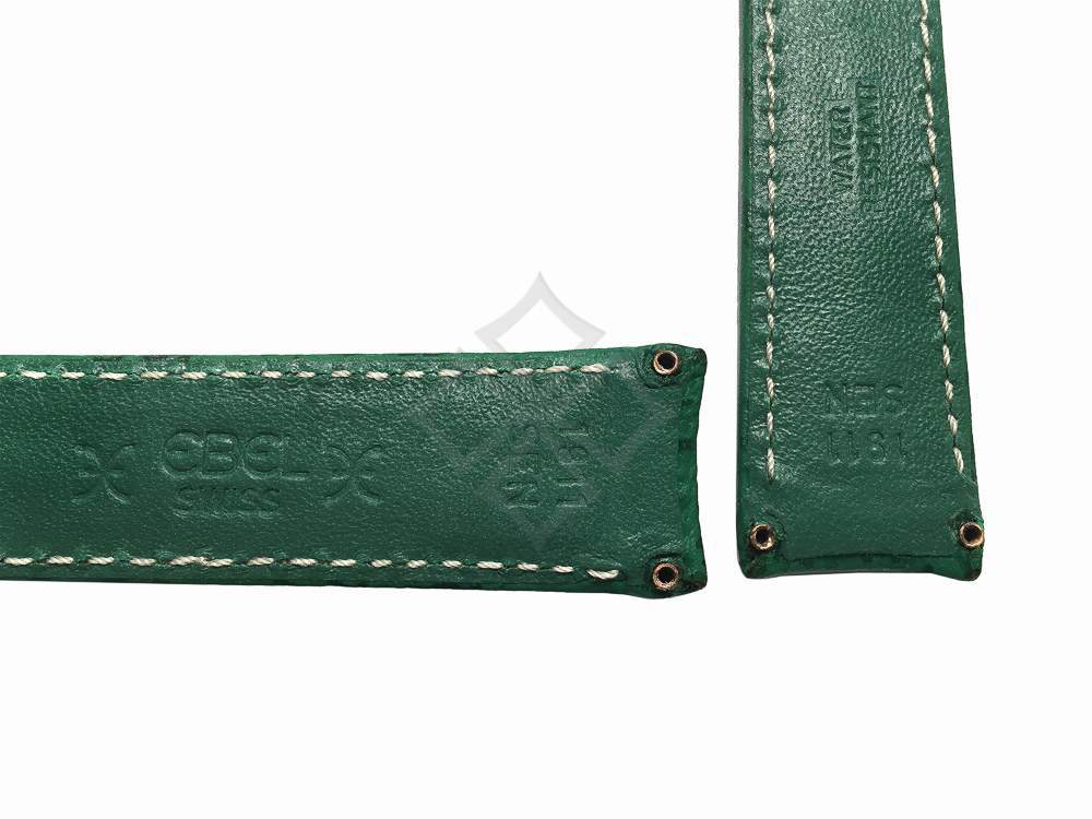 green shark ebel watch band with screw attachements