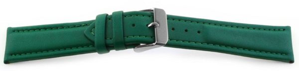 Smooth Leather Watch Band / Water Resistant Green