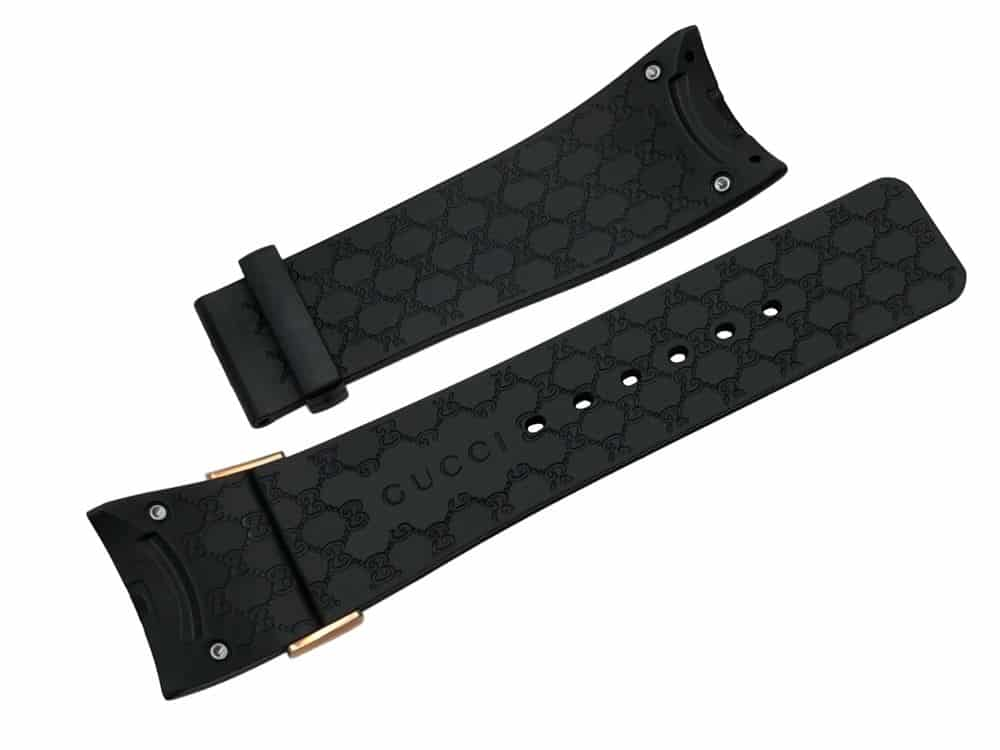 Gucci Original Replacement Black Rubber Watch Band Latin Grammys