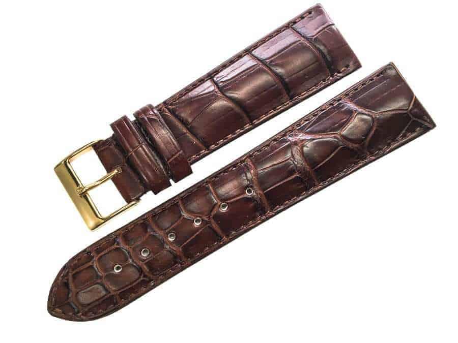 Handmade  Brown Alligator watch band - Alig1822