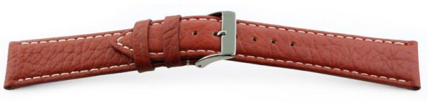 Sport Leather Watch Band  / Contrast Stitching Tan