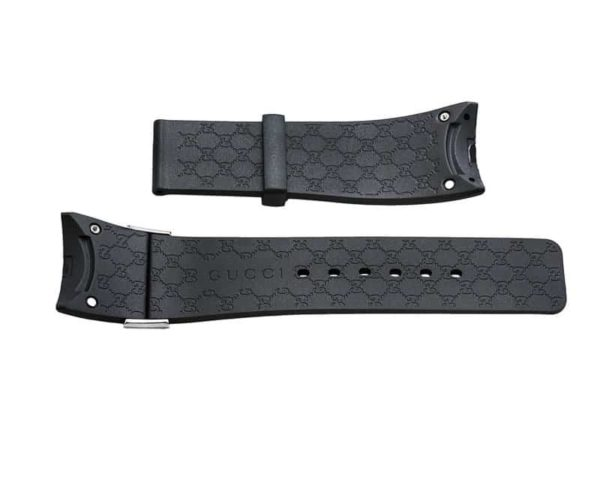 I-Gucci 114 Black Rubber Strap 44mm strap - IGU221