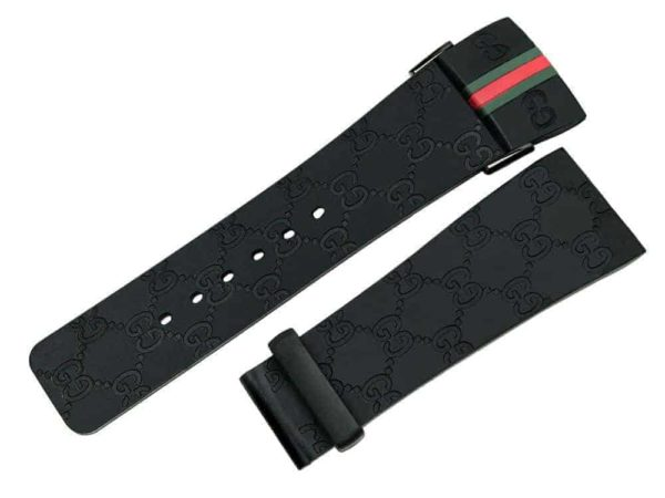 IGU215 - I-Gucci Digital 114 Black Rubber Watch Band YA114207