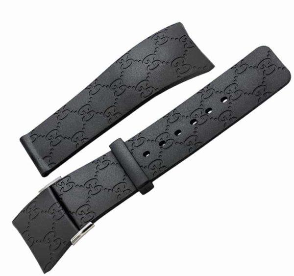 IGU221 - i-Gucci 114 Black Rubber Strap - YDA16221