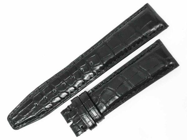 IW20DVBU Genuine IWC Black Alligator 20mm Watch Band