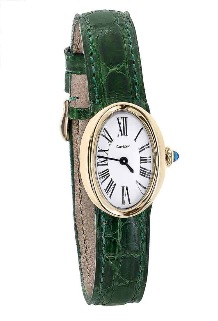 Ladies-gold-cartier-oval-watch