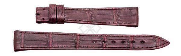 Ladies Ebel Sport Classic watch band - burgundy crocodile skin - 15mm wide - EB767-compressed