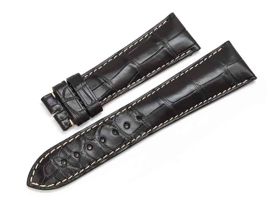 LG766  Longines 2520 Brown Alligator Watch Band