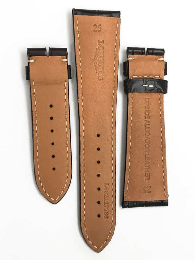 lined with anti-allergenic calf leather Longines 25mm Brown Alligator Watch Strap LG766