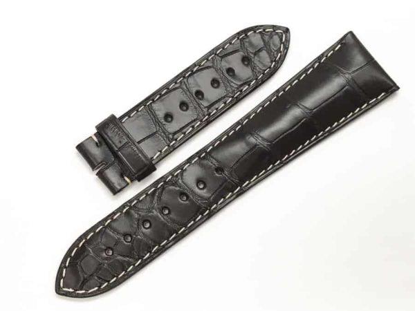 Longines 25mm Brown Alligator watch band LG766