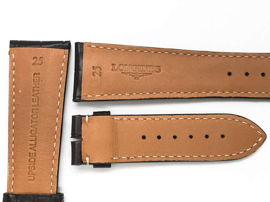 Longines 25mm Brown Alligator Watch Strap with extra extension LG766