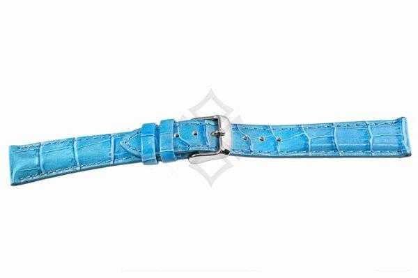Lt. Blue crocodile grain chrono watch band - 30687