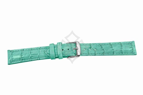 Lt. Green crocodile grain chrono watch band - 30687