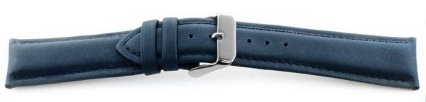 Smooth Leather Watch Band / Water Resistant Navy