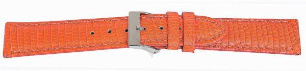 Orange Short Lizard Watch Band