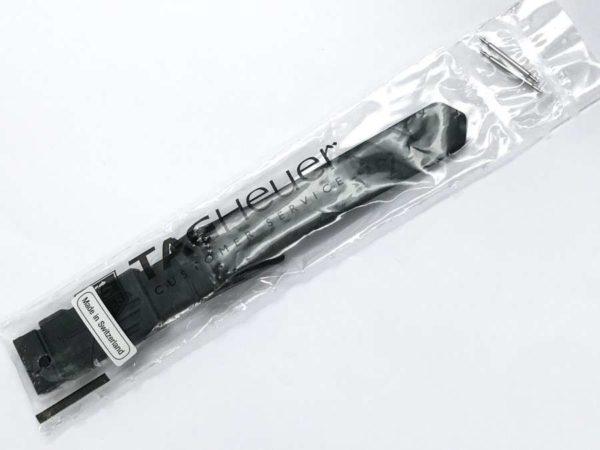 Original Tag Heuer black plastic watch band