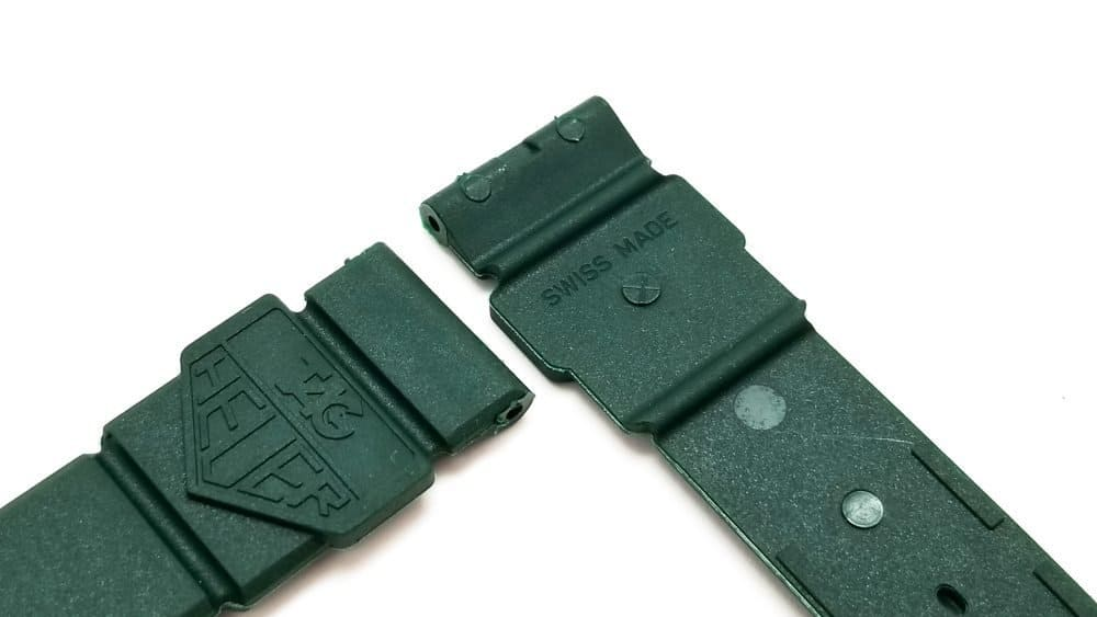 Original Tag Heuer Green Swiss Made Plastic Watch Strap