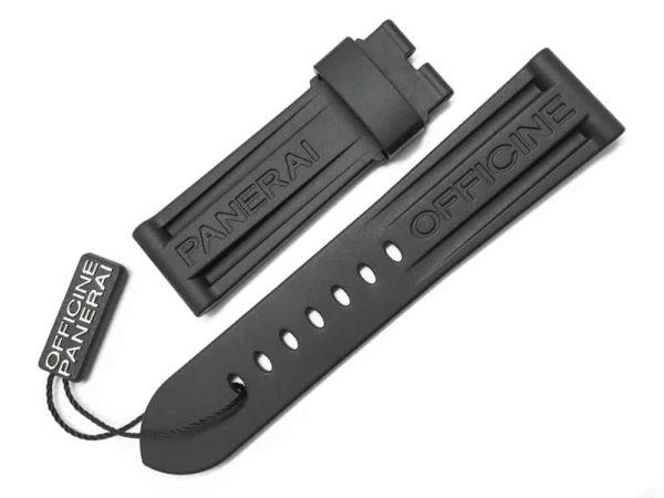 Genuine Officine Panerai 2422mm Black Caoutchouc Rubber