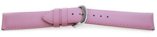 Smooth Leather Watch Band / Quick Release Pink