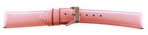 Glossy Leather Watch Band /  Short - Quick Release Pink